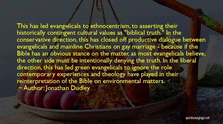 Believe In The Bible Quotes By Jonathan Dudley