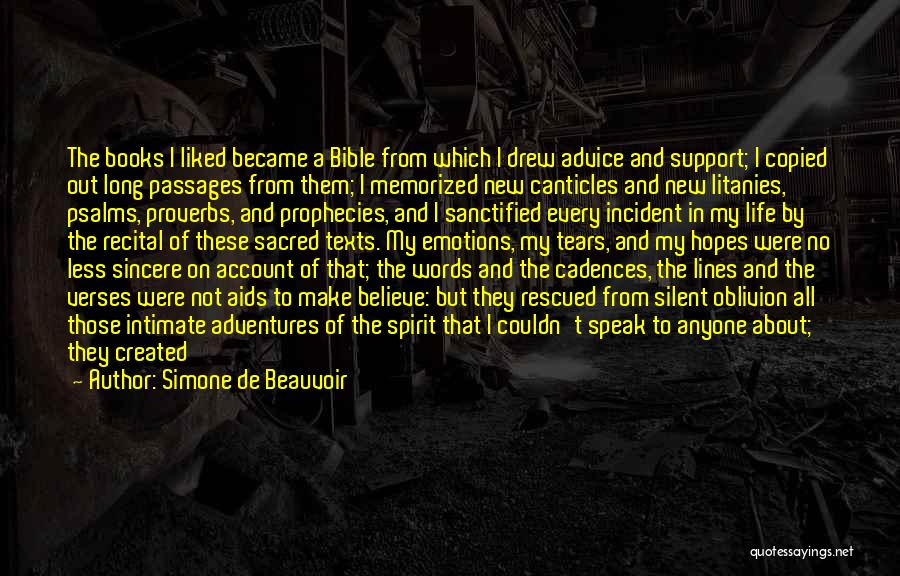 Believe In The Bible Quotes By Simone De Beauvoir