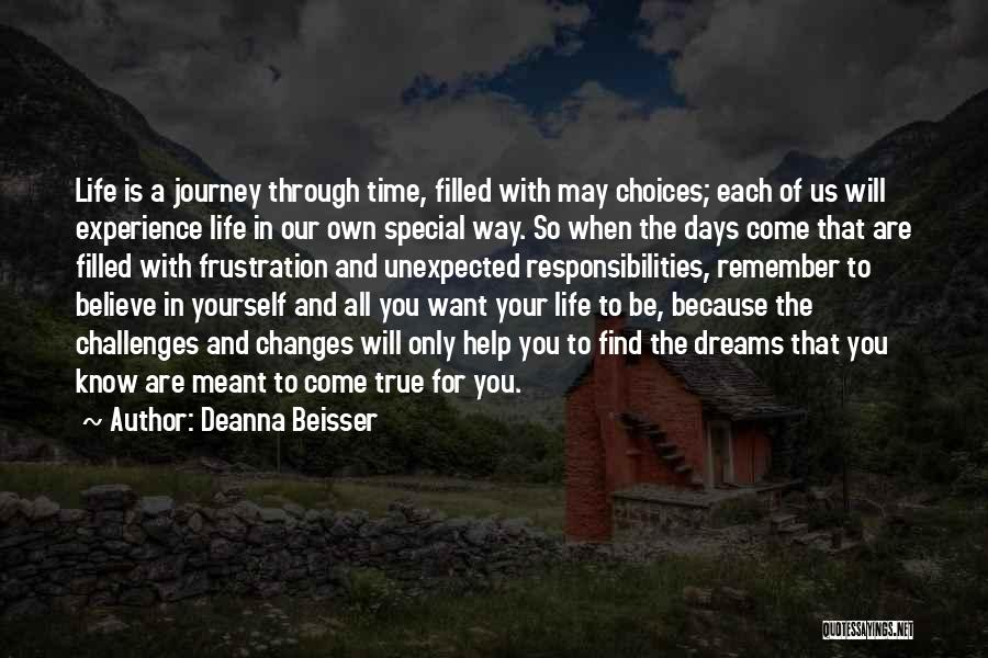 Believe In Yourself And Your Dreams Quotes By Deanna Beisser