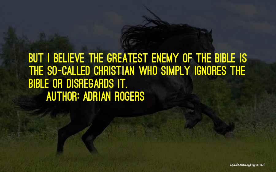 Believe In Yourself Bible Quotes By Adrian Rogers
