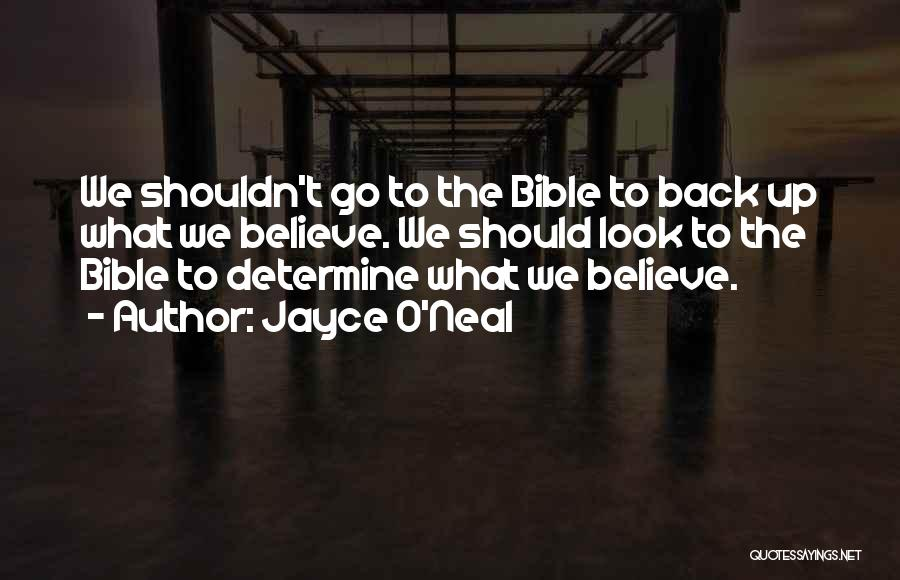 Believe In Yourself Bible Quotes By Jayce O'Neal