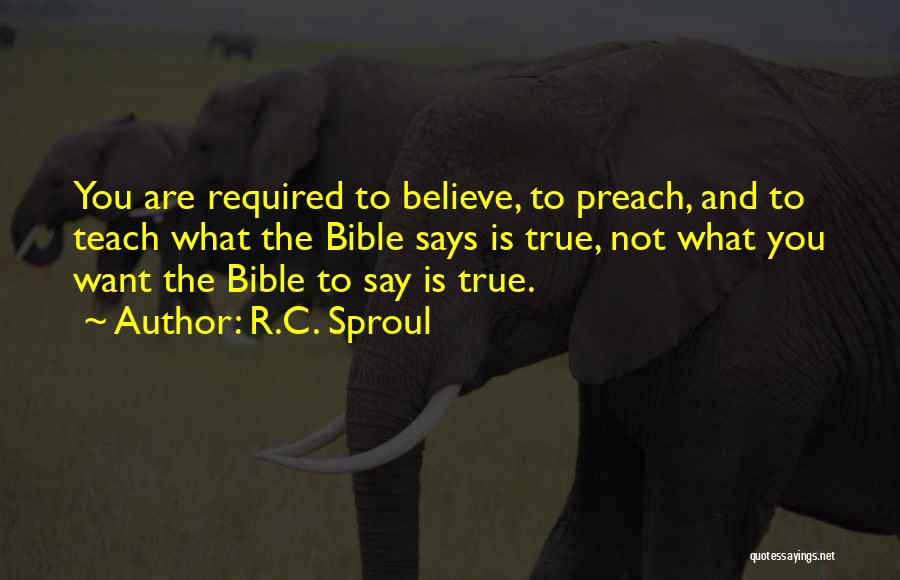 Believe In Yourself Bible Quotes By R.C. Sproul