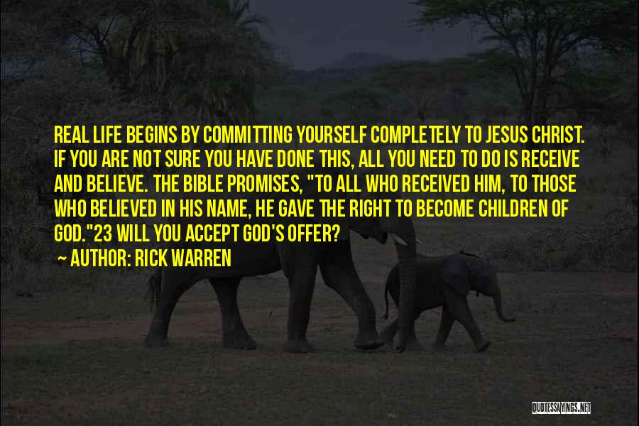 Believe In Yourself Bible Quotes By Rick Warren