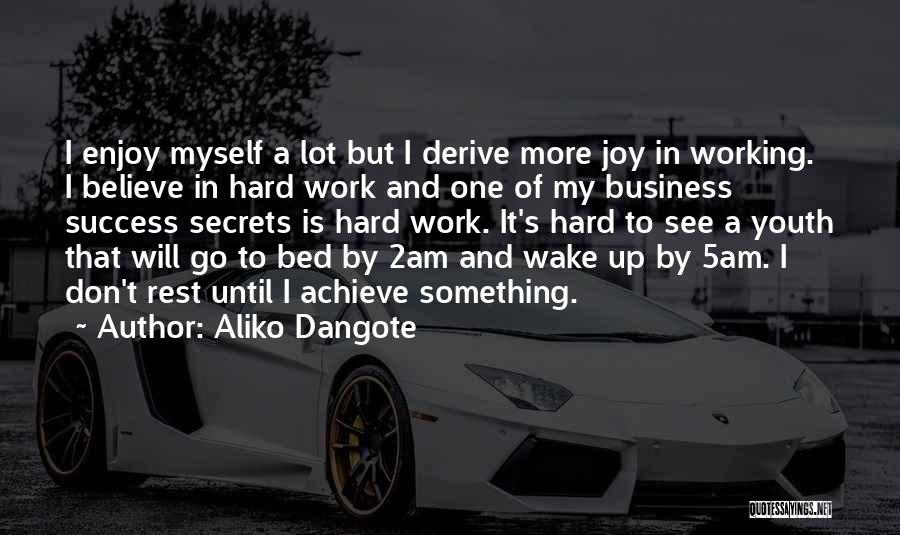 Believe To Achieve Quotes By Aliko Dangote