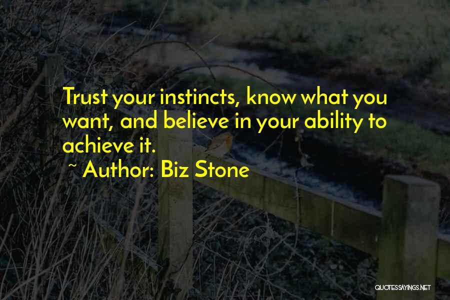 Believe To Achieve Quotes By Biz Stone