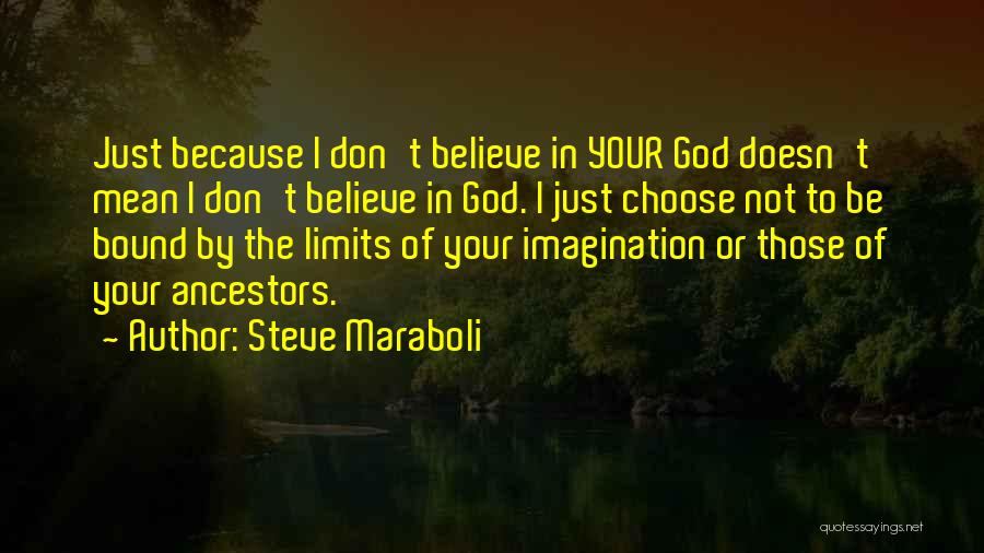 Believe To God Quotes By Steve Maraboli