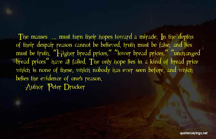 Believed Your Lies Quotes By Peter Drucker