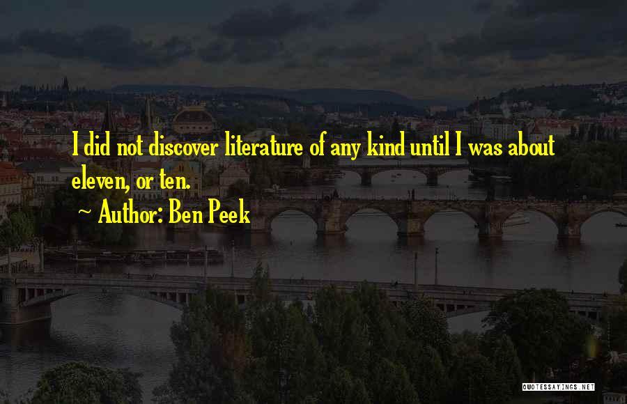 Ben Peek Quotes 1257244