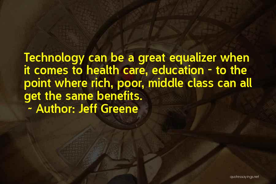 Benefits Of Technology In Education Quotes By Jeff Greene