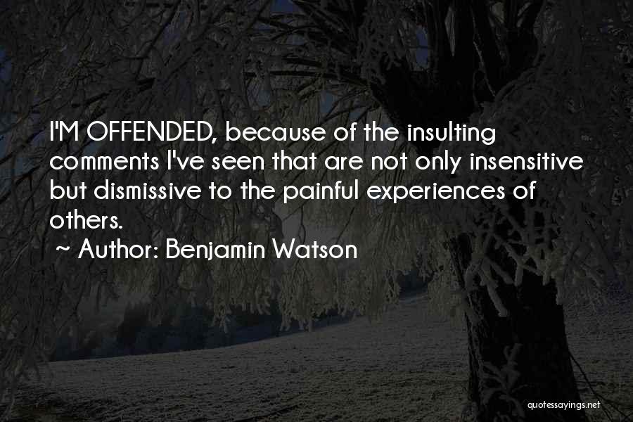 Benjamin Watson Quotes 1129724