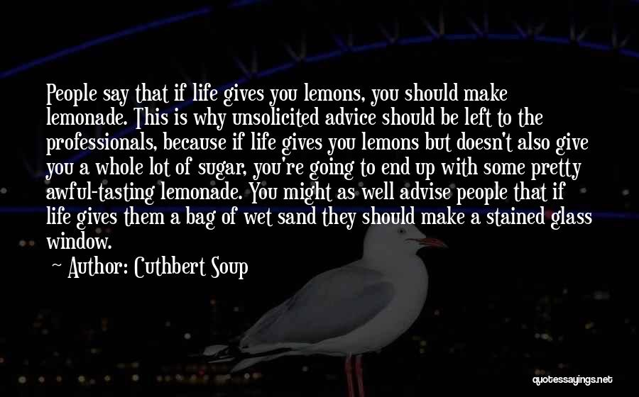 Best Advice For Life Quotes By Cuthbert Soup