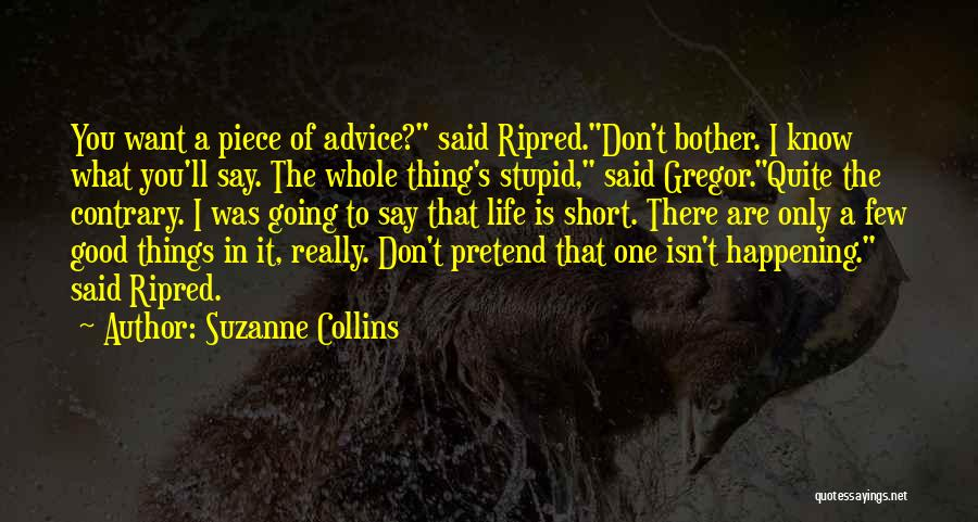 Best Advice For Life Quotes By Suzanne Collins