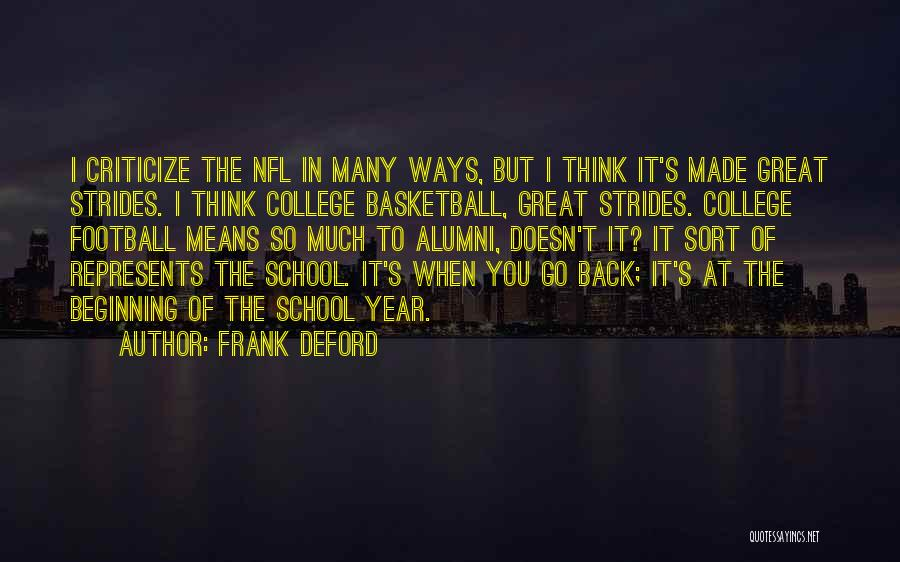 Best Alumni Quotes By Frank Deford