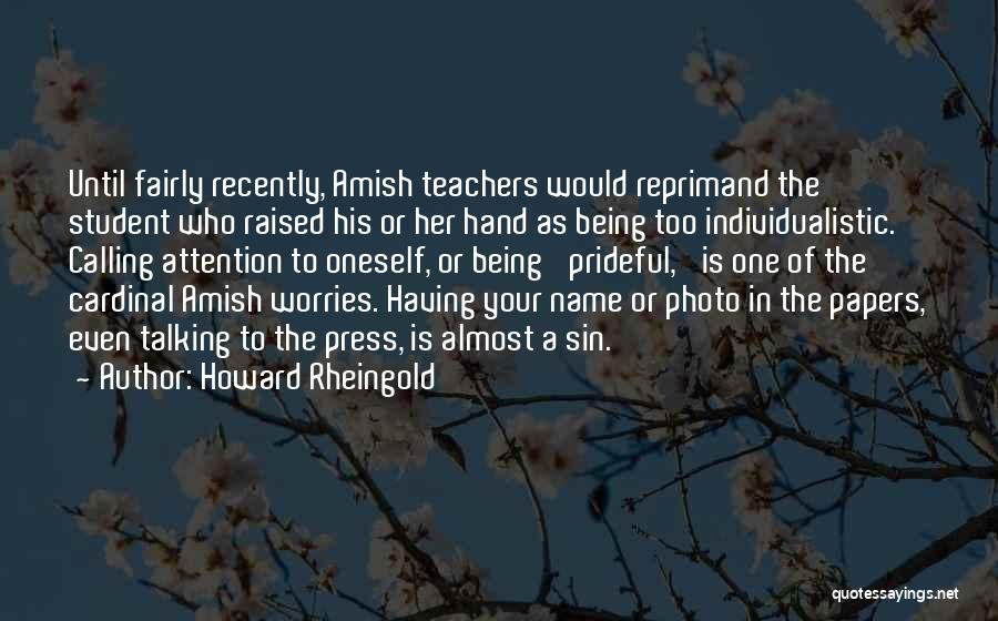Best Amish Quotes By Howard Rheingold