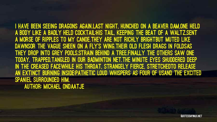 Best Badminton Quotes By Michael Ondaatje
