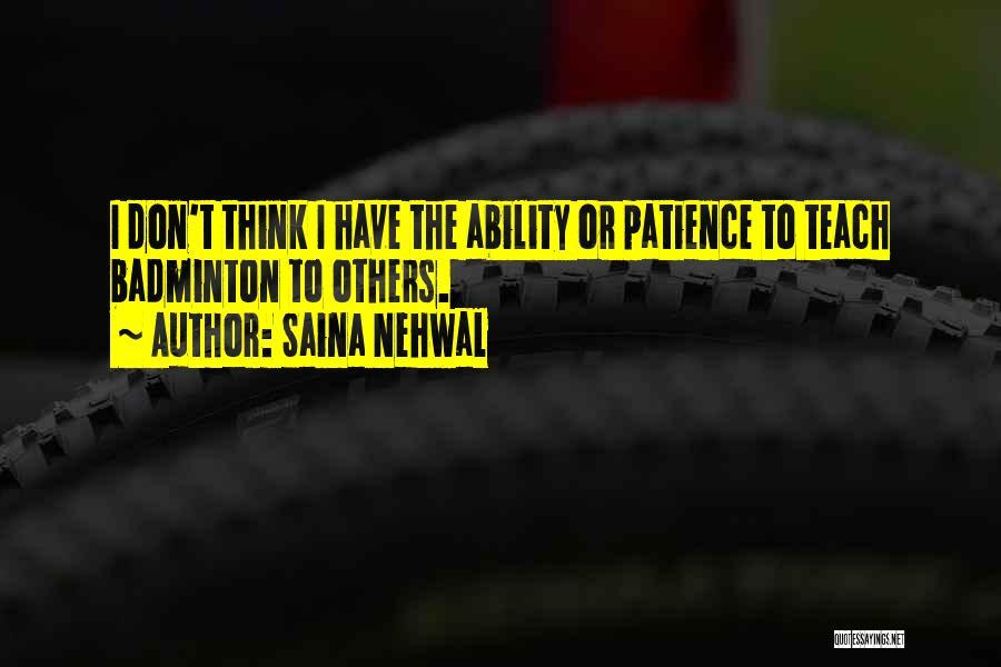 Best Badminton Quotes By Saina Nehwal