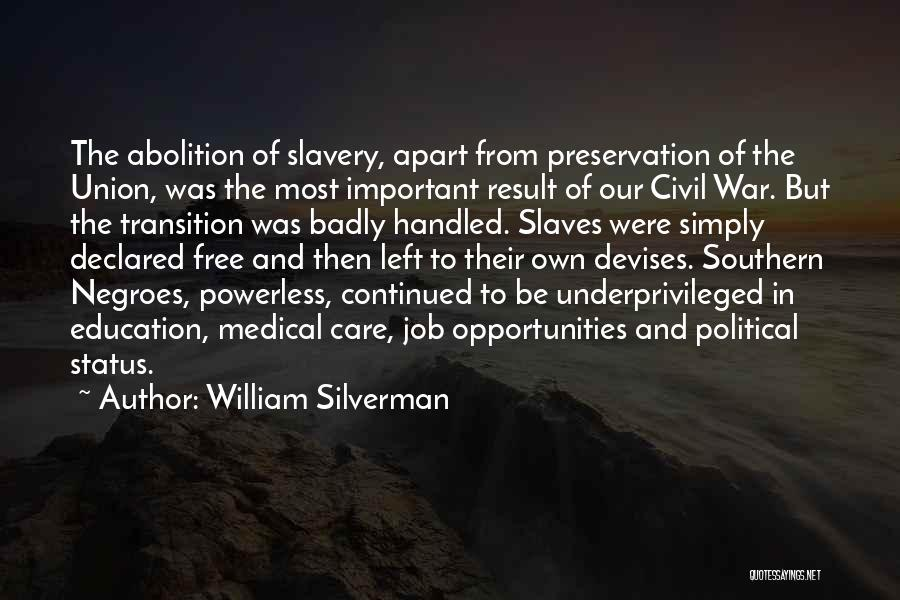 Best Black History Quotes By William Silverman