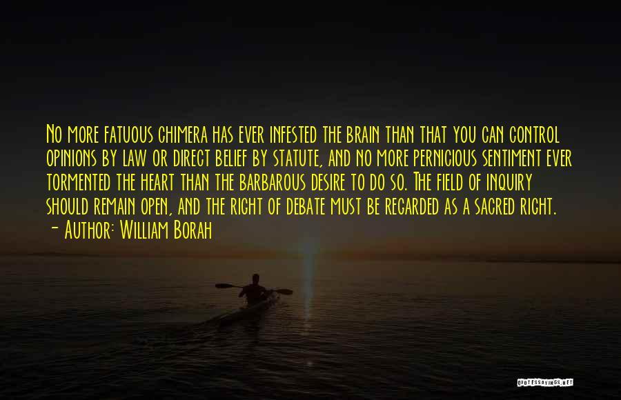 Best Chimera Quotes By William Borah