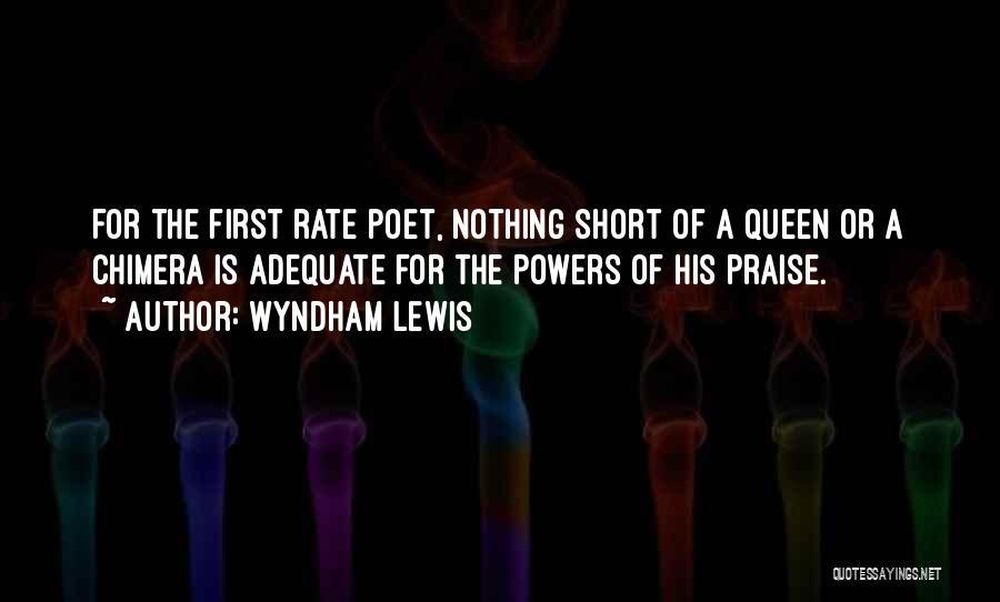 Best Chimera Quotes By Wyndham Lewis
