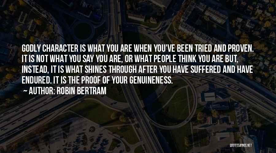 Best Christian Encouragement Quotes By Robin Bertram