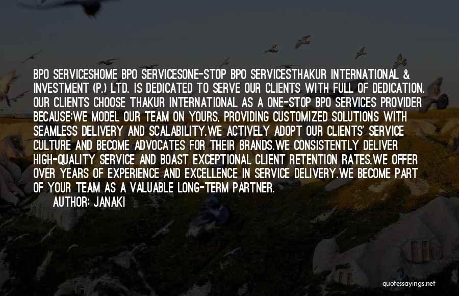 Best Client Service Quotes By Janaki