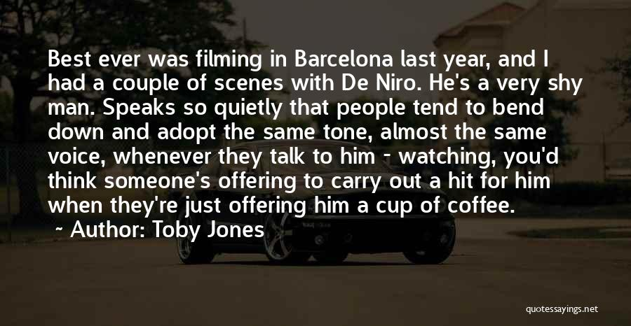 Best Coffee Cup Quotes By Toby Jones