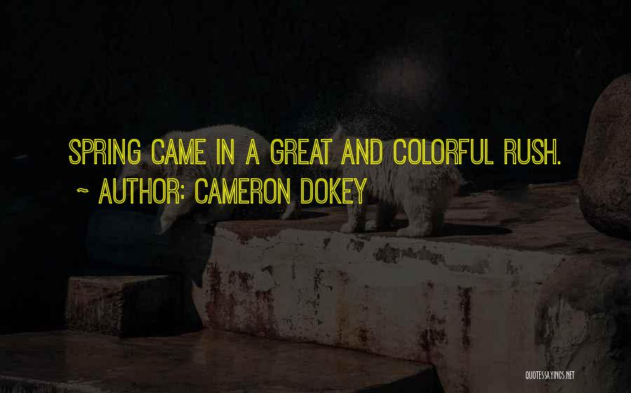 Best Colorful Quotes By Cameron Dokey