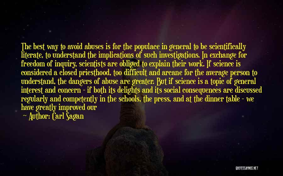 Best Concern Quotes By Carl Sagan