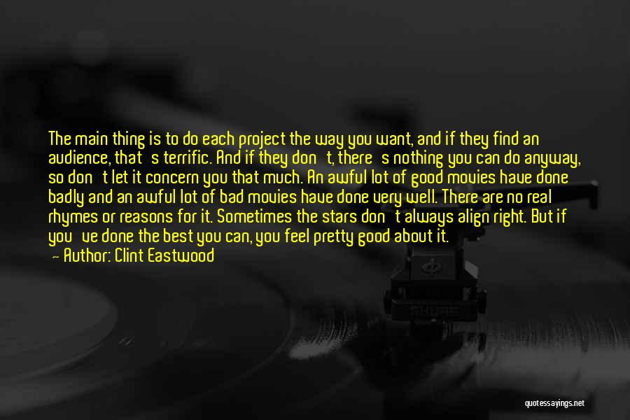 Best Concern Quotes By Clint Eastwood