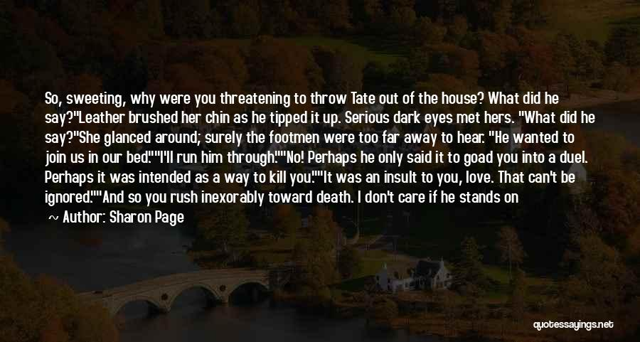 Best Courtesan Quotes By Sharon Page