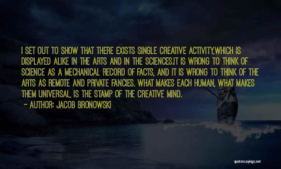 Best Creative Art Quotes By Jacob Bronowski