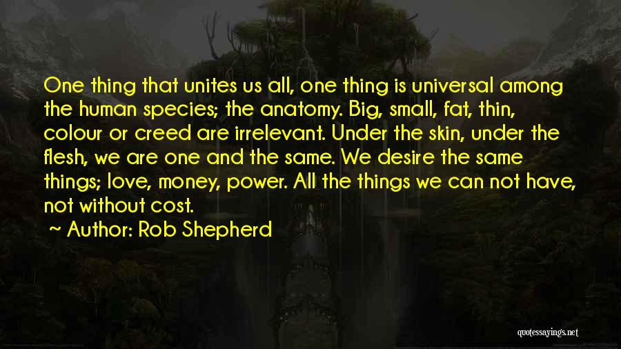 Best Creed Quotes By Rob Shepherd
