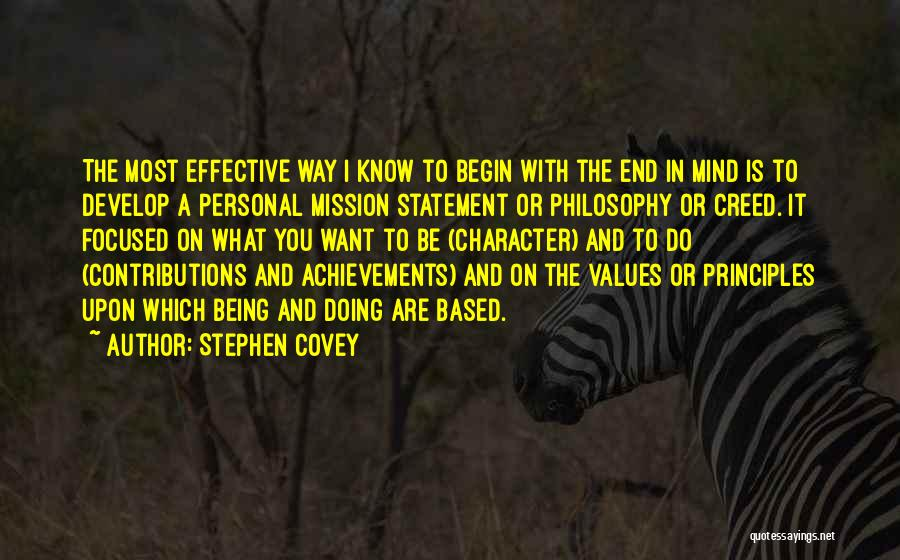 Best Creed Quotes By Stephen Covey