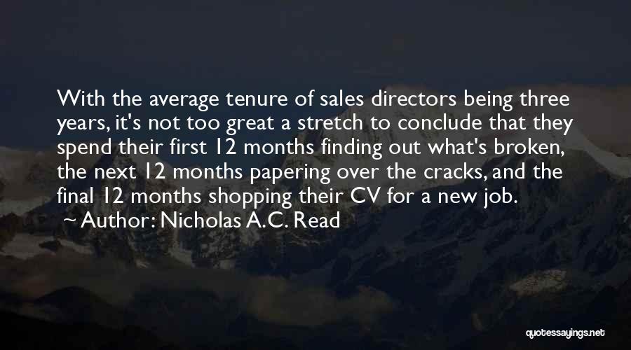 Best Cv Quotes By Nicholas A.C. Read