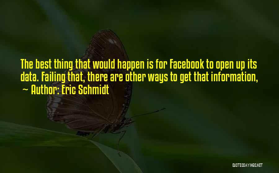 Best Data Quotes By Eric Schmidt