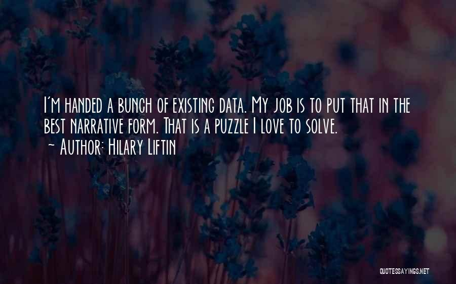 Best Data Quotes By Hilary Liftin