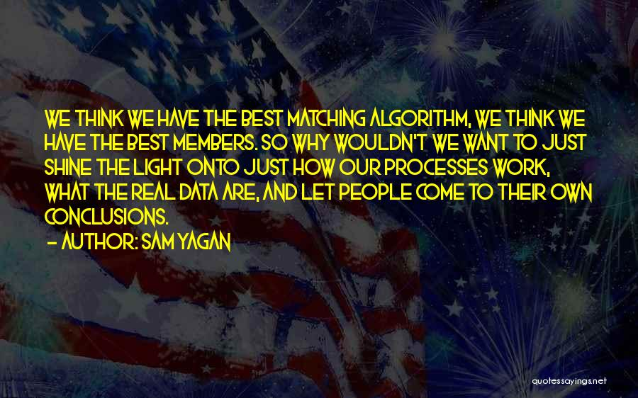 Best Data Quotes By Sam Yagan