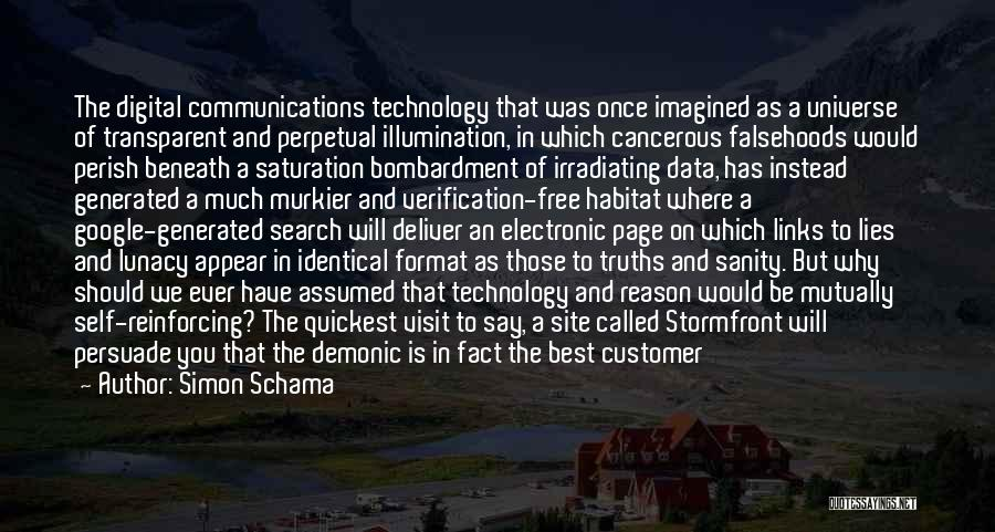 Best Data Quotes By Simon Schama