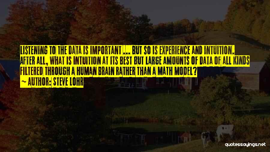 Best Data Quotes By Steve Lohr