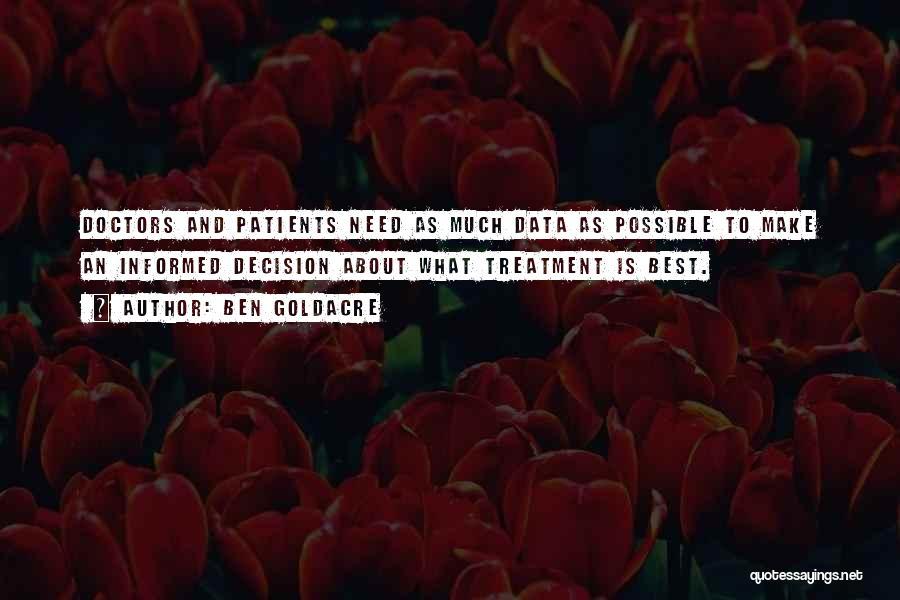 Best Doctors Quotes By Ben Goldacre