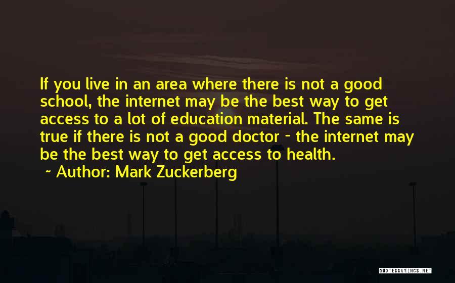 Best Doctors Quotes By Mark Zuckerberg