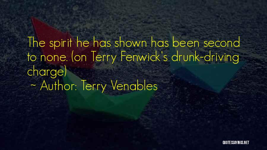 Best Drunk Driving Quotes By Terry Venables