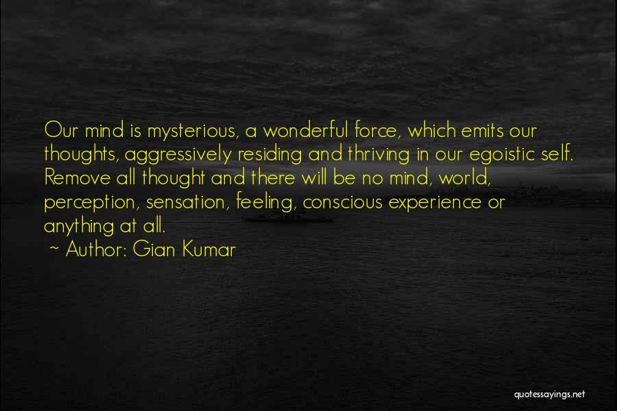 Best Egoistic Quotes By Gian Kumar