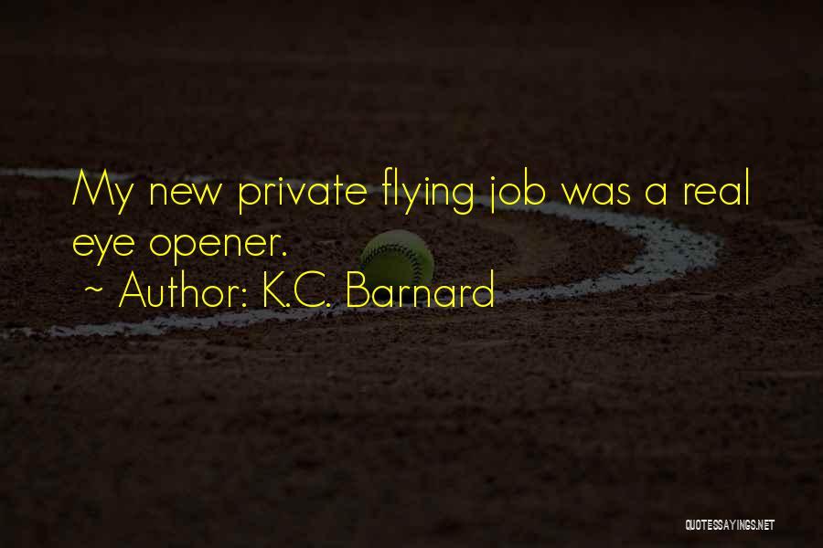 Best Eye Opener Quotes By K.C. Barnard