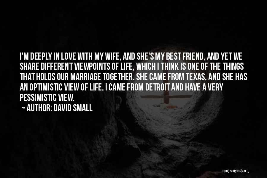 Best Friend Love My Life Quotes By David Small