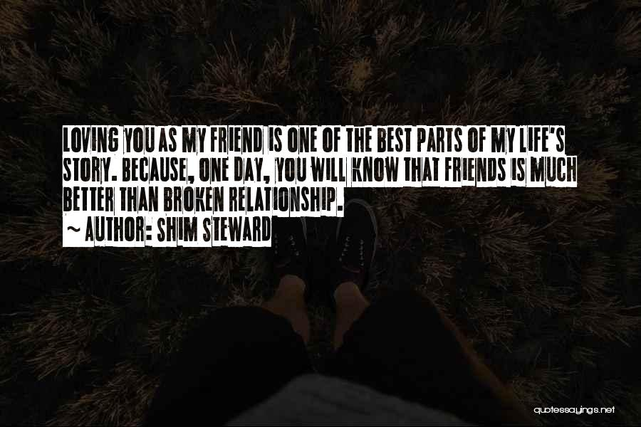 Best Friend Love My Life Quotes By Shim Steward