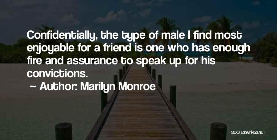 Best Friend Male Quotes By Marilyn Monroe