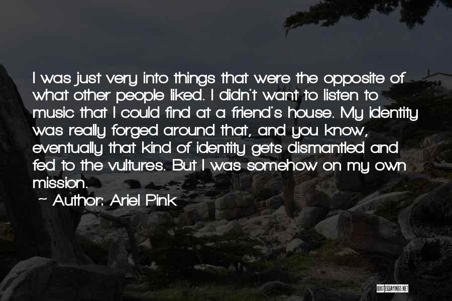Best Friend Opposites Quotes By Ariel Pink