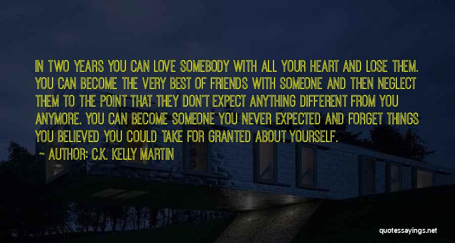 Best Friends And Love Quotes By C.K. Kelly Martin