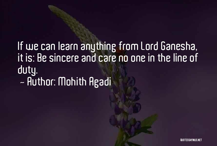 Best Ganesha Quotes By Mohith Agadi
